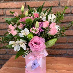 Caja ed flores Rosada